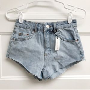 TOPSHOP High Rise Mom Cutoff Shorts
